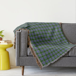 State of Connecticut Tartan Throw Blanket