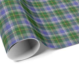 State of Connecticut Tartan Wrapping Paper