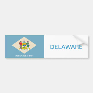 State of Delaware flag Car Bumper Sticker