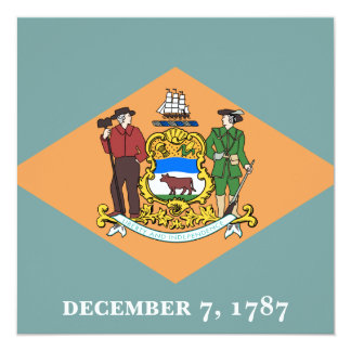 State of Delaware Flag Card