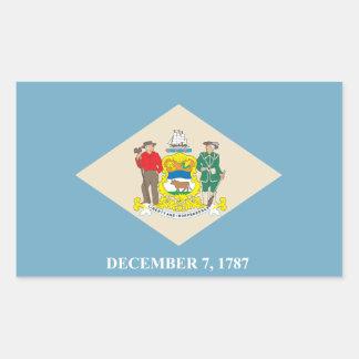 State of Delaware flag Rectangular Sticker