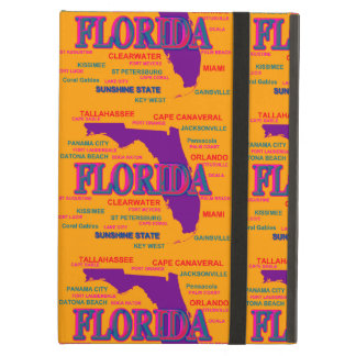 State of Florida Map, Miami, Orlando Cover For iPad Air