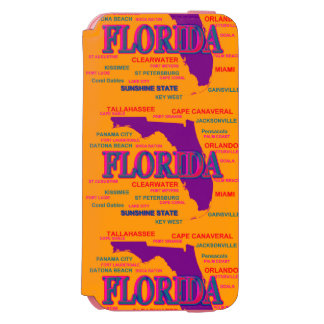 State of Florida Map, Miami, Orlando iPhone 6/6s Wallet Case