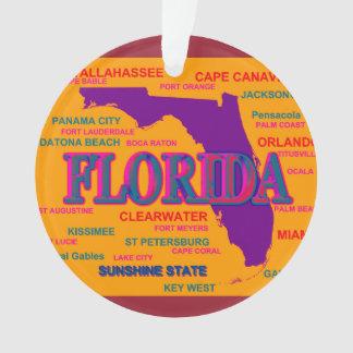 State of Florida Map, Miami, Orlando Ornament
