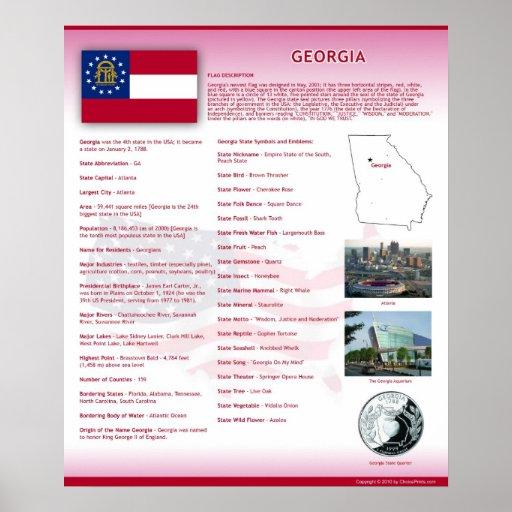 State of Georgia,GA Posters