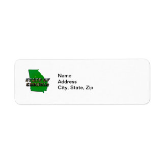 State of Georgia Map and Picture Text Labels