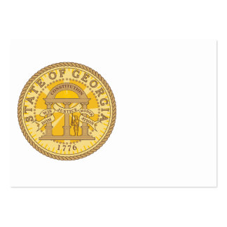 State of Georgia seal Large Business Cards (Pack Of 100)