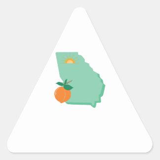 State Of Georgia Triangle Sticker