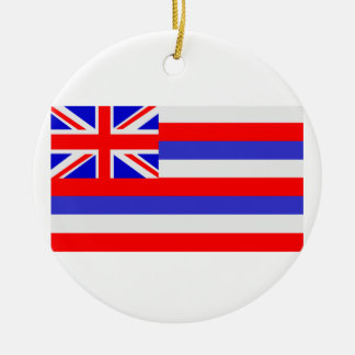 State of Hawaii Ceramic Ornament