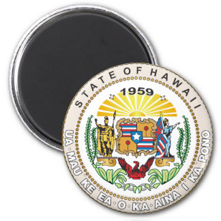 State of Hawaii Great seal 2 Inch Round Magnet