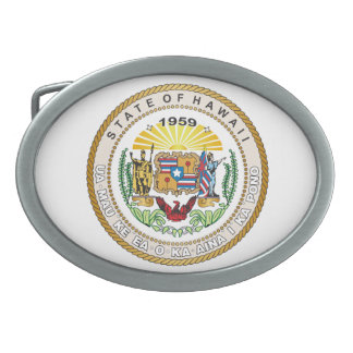 State of Hawaii Great seal Belt Buckle