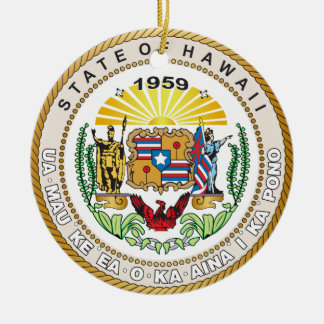 State of Hawaii Great seal Ceramic Ornament