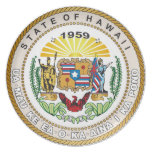 State of Hawaii Great seal Plate