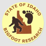 State of Idaho Bigfoot Research Round Sticker