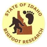 State of Idaho Bigfoot Research Round Sticker