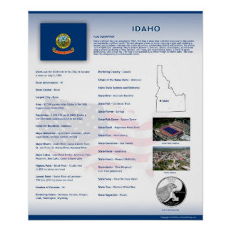 State of Idaho,ID Posters