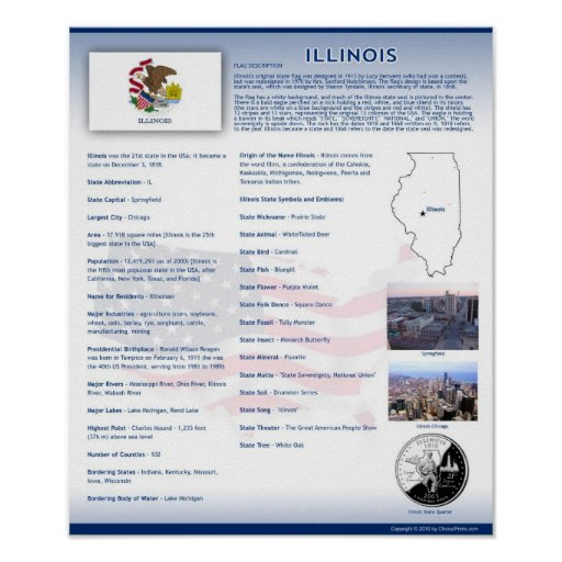 State of Illinois, IL Posters
