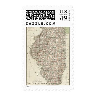 State of Illinois Postage Stamp