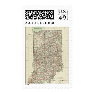 State of Indiana Postage Stamp