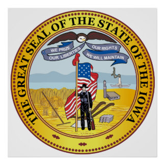State of Iowa great seal Poster