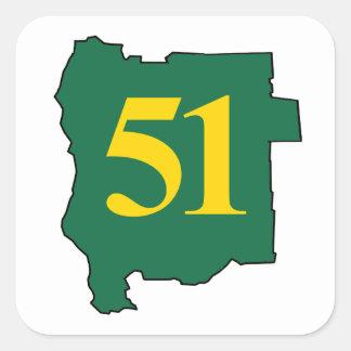 State of Jefferon 51 Square Sticker