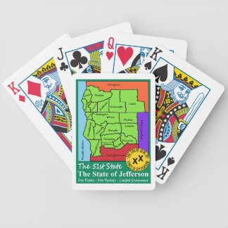 State of Jefferson Bicycle Playing Cards