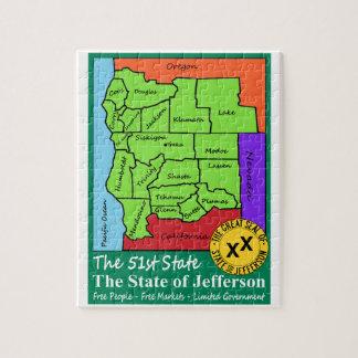 State of Jefferson Jigsaw Puzzle