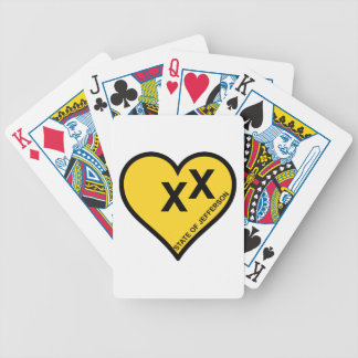 State of Jefferson love heart Bicycle Playing Cards