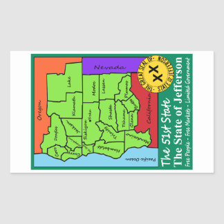 State of Jefferson Rectangular Sticker