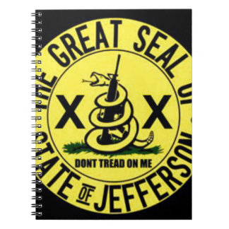 State of Jefferson Spiral Notebook