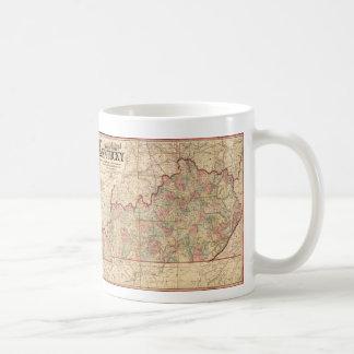 State of Kentucky Map by James Lloyd (1862) Coffee Mug