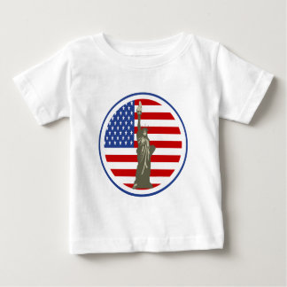 State of Liberty In USA Flag T Shirt