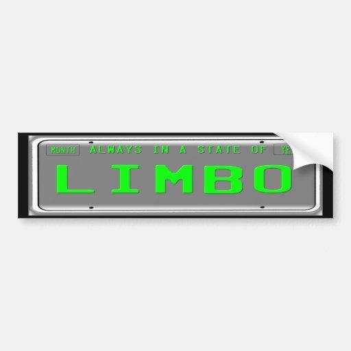 State of Limbo Car Bumper Sticker