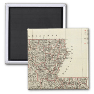 State of Louisiana 2 Inch Square Magnet