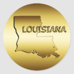 STATE OF LOUISIANA GOLD MEDALLION ROUND STICKERS