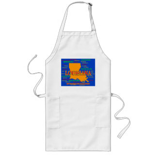 State of Louisiana Map, New Orleans, Shreveport Long Apron