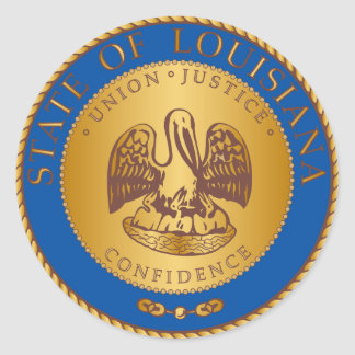 State of Louisiana seal Classic Round Sticker