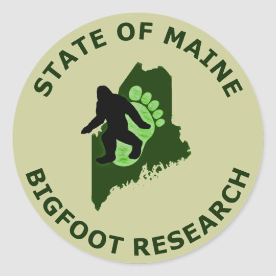 State of Maine Bigfoot Research Classic Round Sticker
