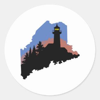 State Of Maine Classic Round Sticker