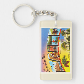 State of Maine ME Old Vintage Travel Souvenir Keychain
