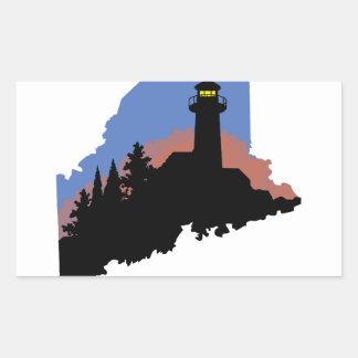 State Of Maine Rectangular Sticker