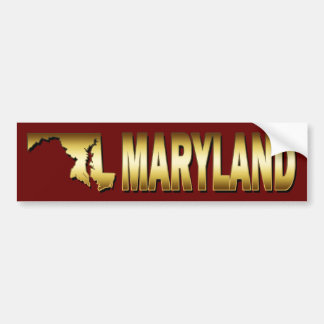 STATE OF MARYLAND BUMPER STICKER