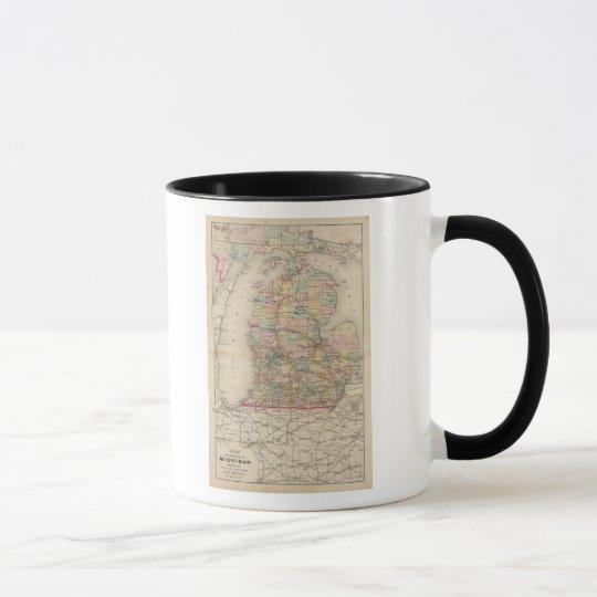 State of Michigan Atlas Map Mug