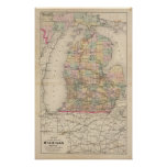 State of Michigan Atlas Map Poster