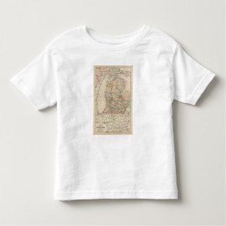 State of Michigan Atlas Map Toddler T-shirt