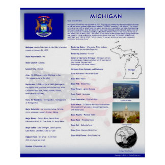 State of Michigan,MI Posters