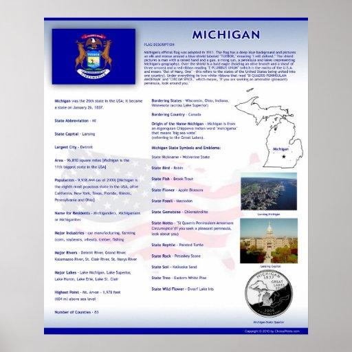 State of Michigan,MI Posters