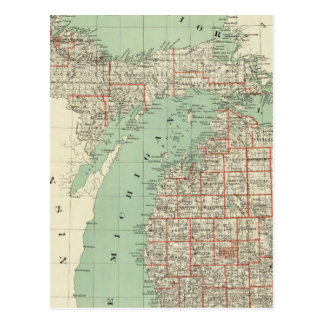 State of Michigan Postcard