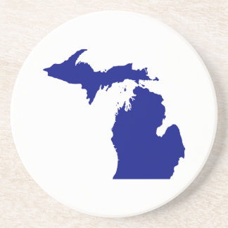 State of Michigan Sandstone Coaster