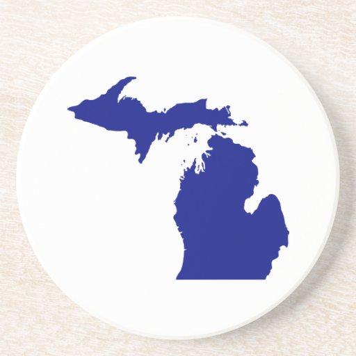 State of Michigan Sandstone Coaster